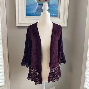 Xhilaration purple lace kimono